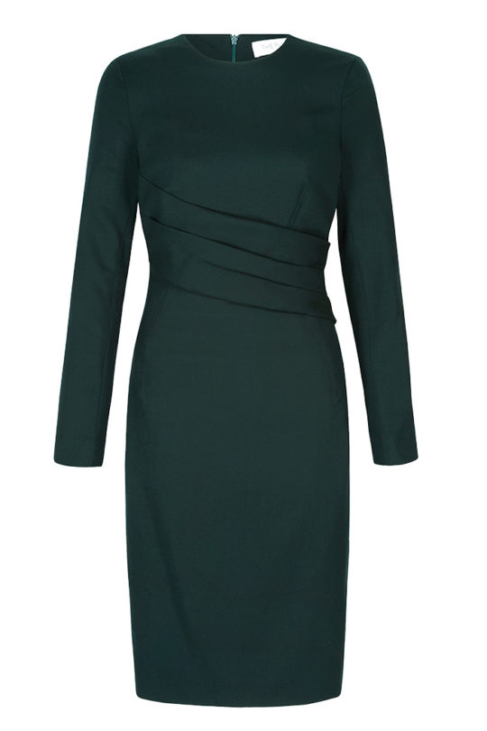 Montrose Dress Deep Green Wool Crepe