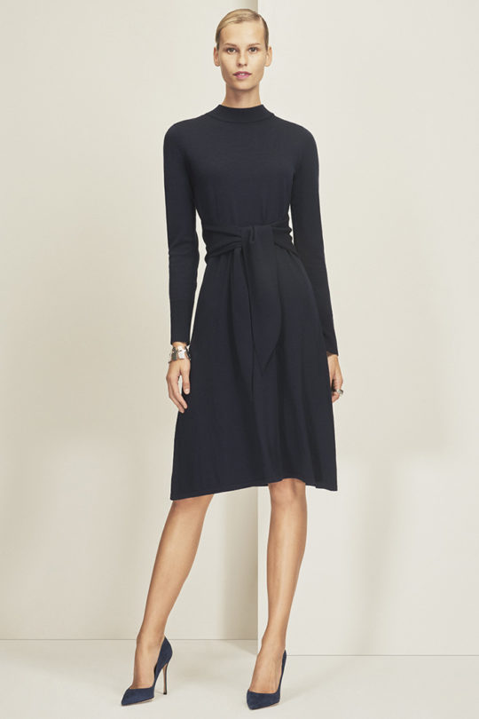 Allerton Dress Navy Merino Wool 1