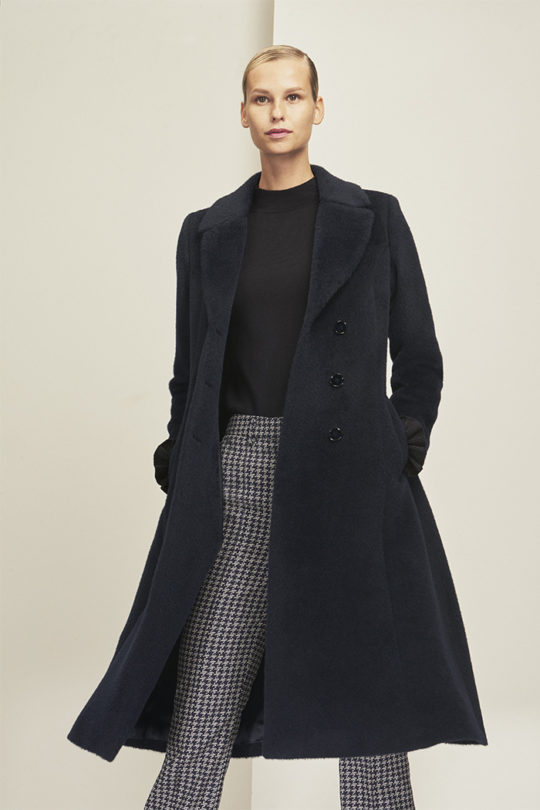 Langdon Coat Navy Alpaca Wool