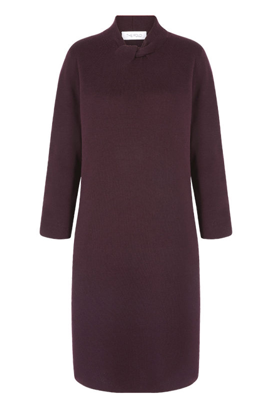 Newton Dress Plum Milano-Knit Merino Wool