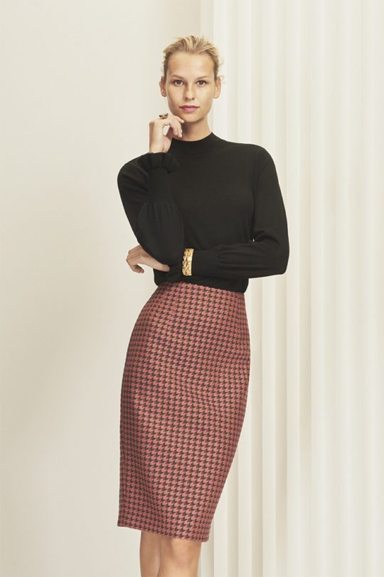 Hartley Skirt Bold Pink Jacquard