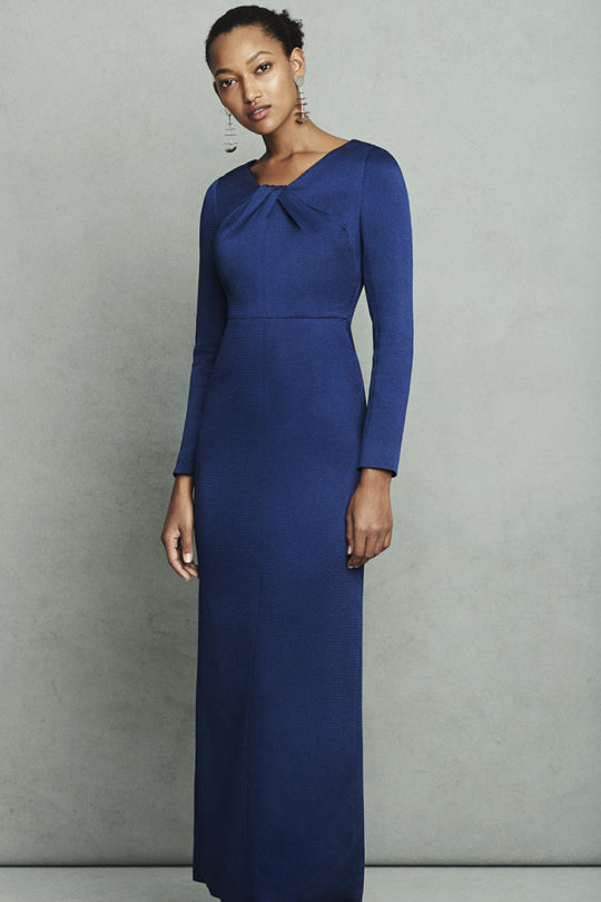 Rossini Dress Sapphire Blue Satin