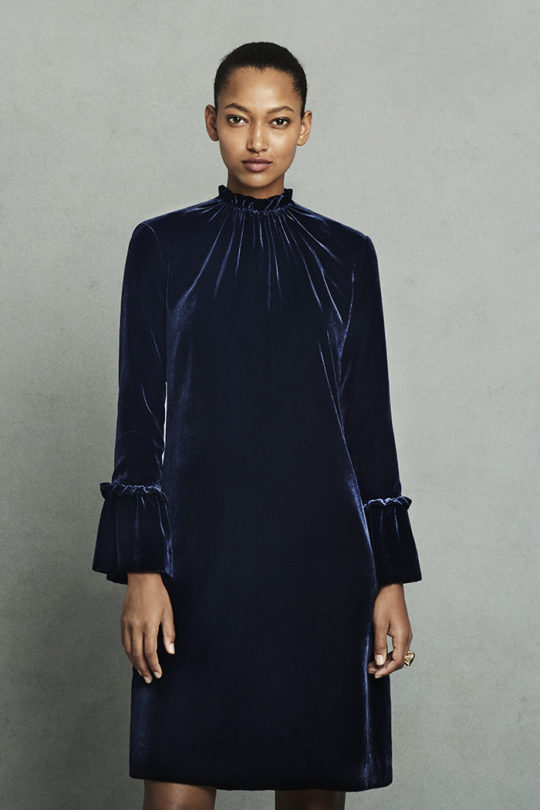 Verona Dress Midnight Blue Velvet