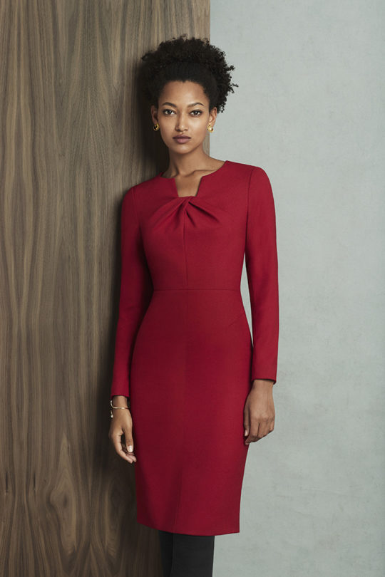 Waverley Dress Garnet Red Wool Crepe