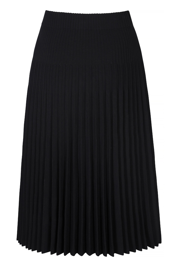 Alverston Skirt Black Rib Knit