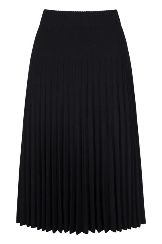 Alverston Skirt Black Rib Knit 2