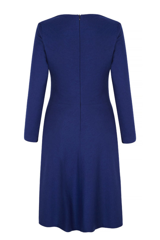 Belgravia Dress Cobalt Blue Wool Jersey 3