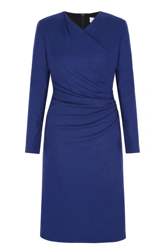 Belgravia Dress Cobalt Blue Wool Jersey 2