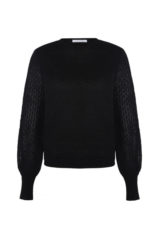 Dorrington Jumper Black Merino 2