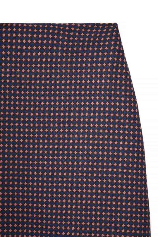 Edington Skirt Navy Spot Jacquard 4