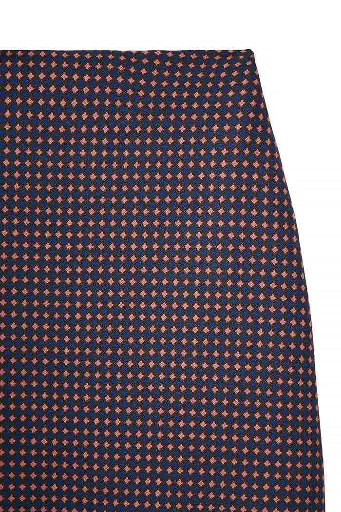 Edington Skirt Navy Spot Jacquard