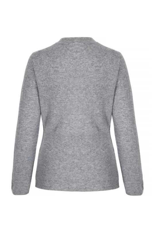 Kentmere Jumper Pewter Grey Cashmere 3