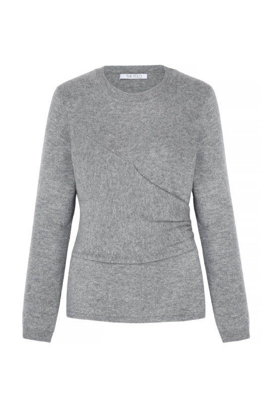 Kentmere Jumper Pewter Grey Cashmere 2