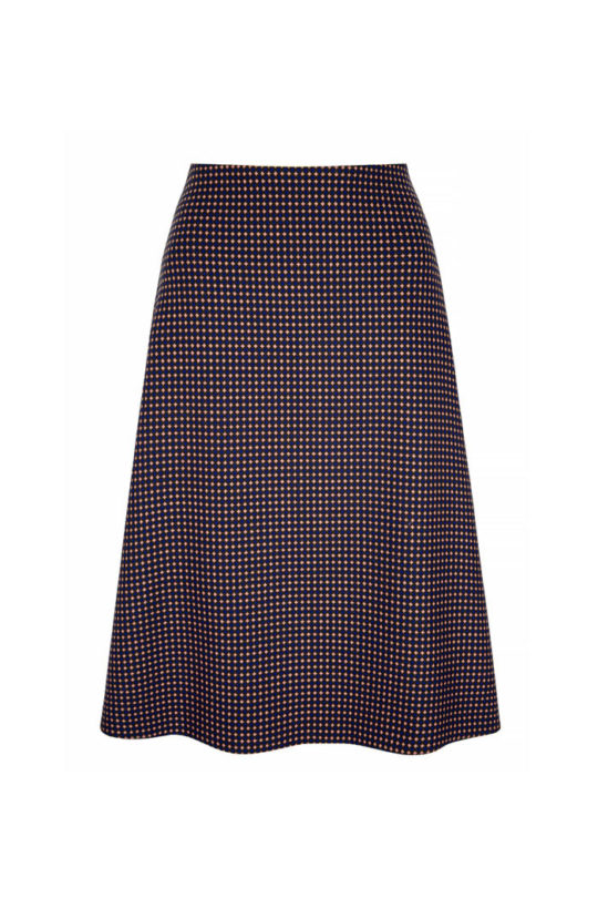 Edington Skirt Navy Spot Jacquard 2