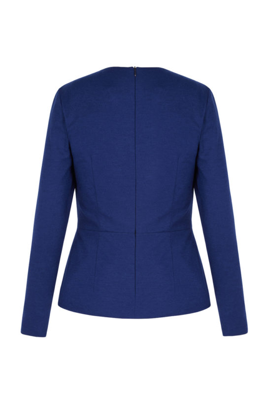 Norton Top Cobalt Blue Wool Jersey 3