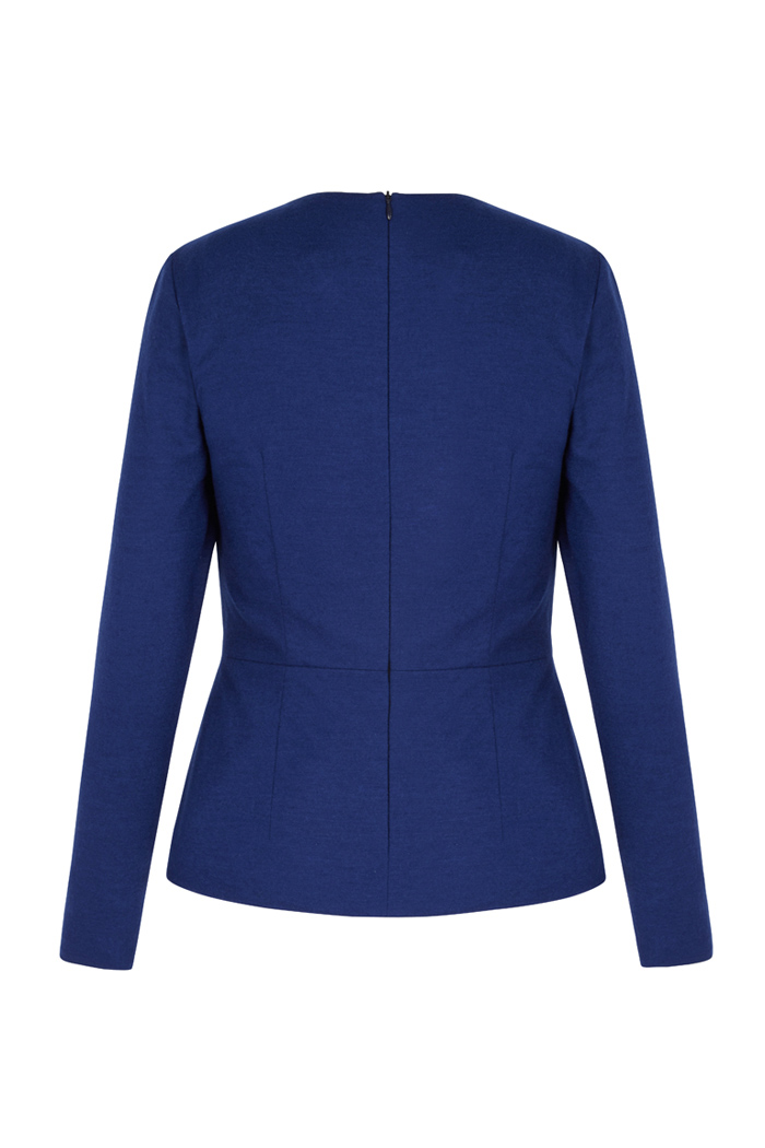 Norton Top Cobalt Blue Wool Jersey