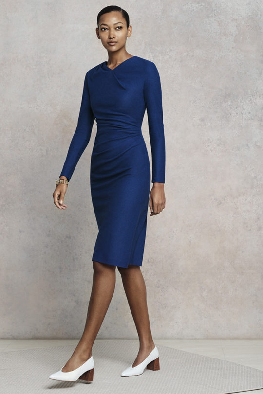 Belgravia Dress Cobalt Blue Wool Jersey 1