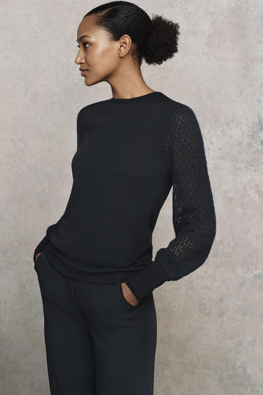 Dorrington Jumper Black Merino