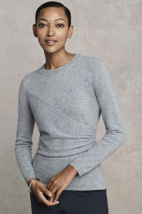 Kentmere Jumper Pewter Grey Cashmere 1