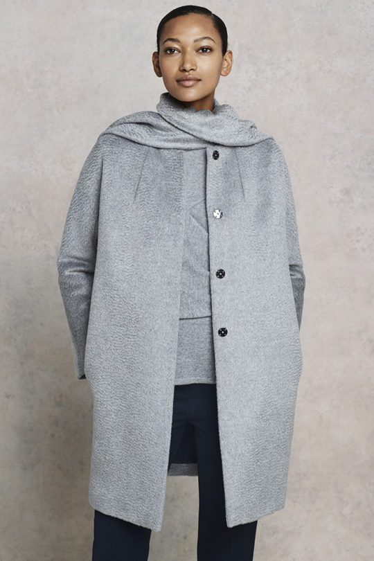 Albion Coat Pewter Grey Wool