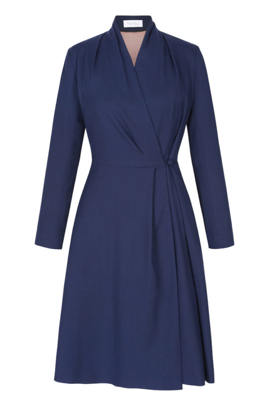Hampton Dress Dark Blue Crepe