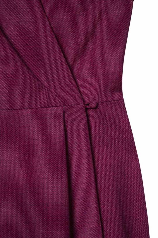 Hampton Dress Mulberry Tweed