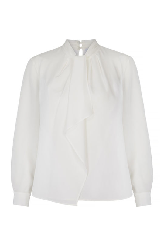 Saunders Blouse Ivory Silk