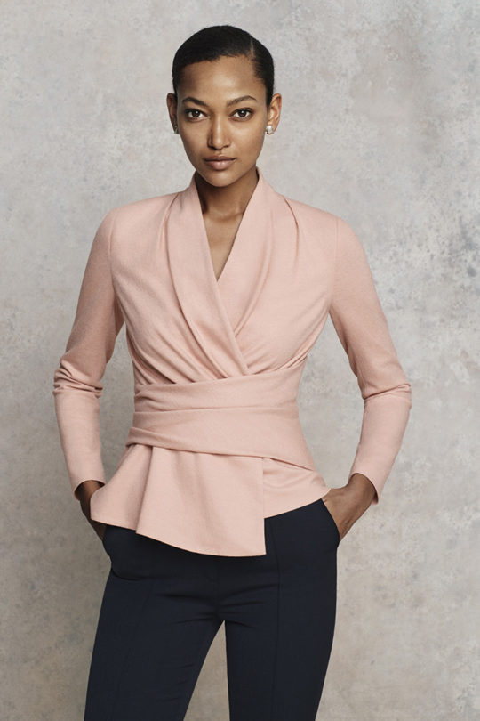 Belleville Top Blush Pink Wool Jersey
