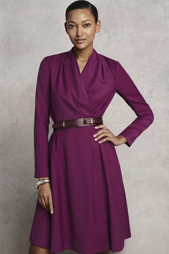 Hampton Dress Mulberry Tweed 1