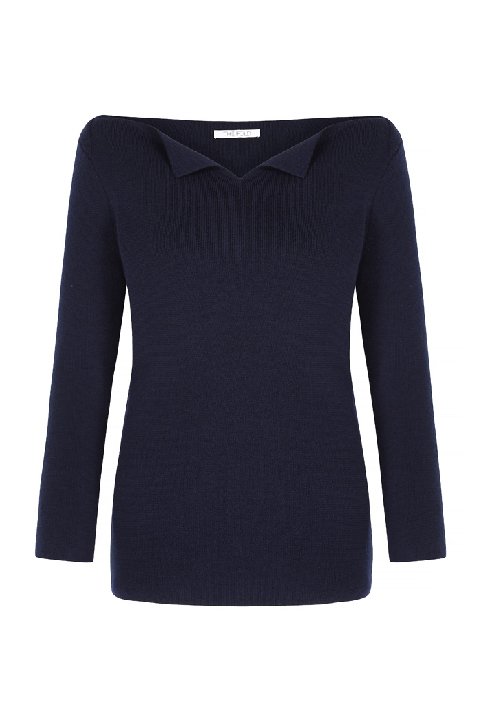 Mariner Jumper Navy Merino