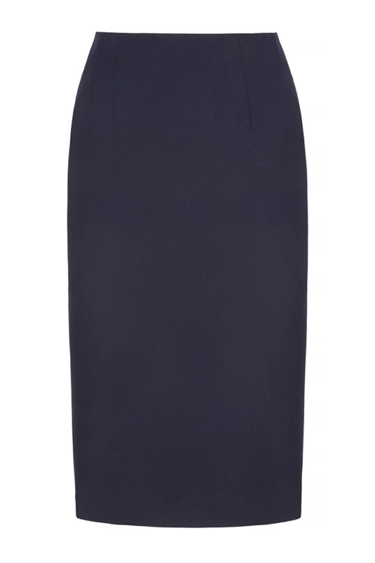 Le Marais Slim Fit Pencil Skirt Navy