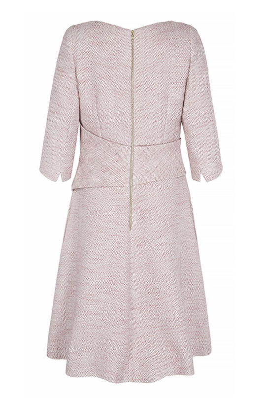Camelot Dress Blush Pink Tweed 3