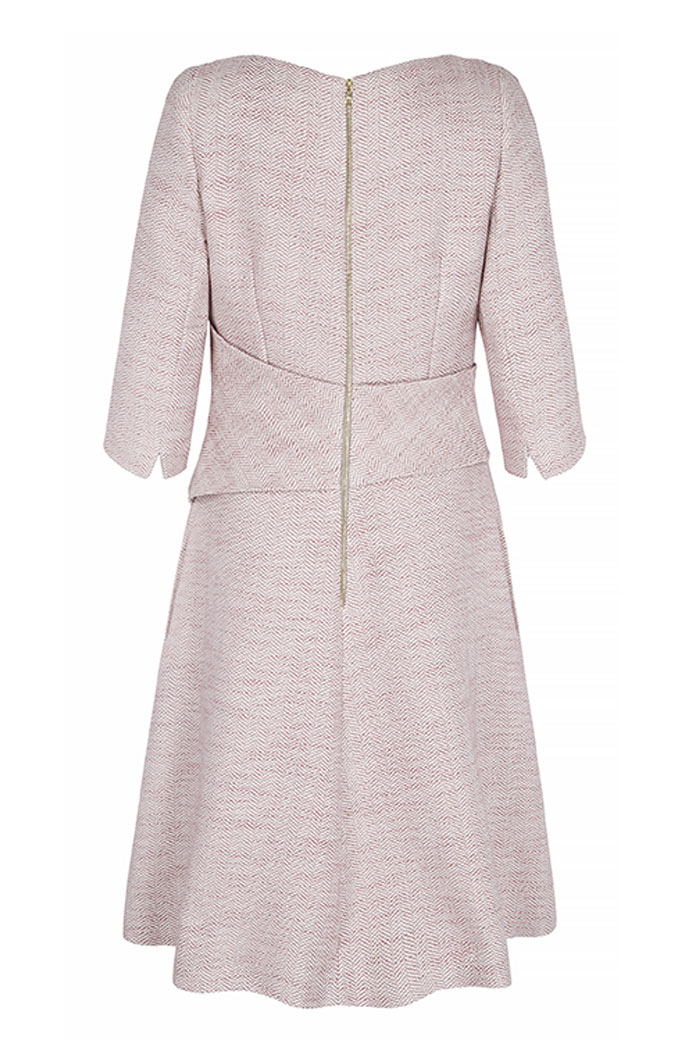 Camelot Dress Blush Pink Tweed