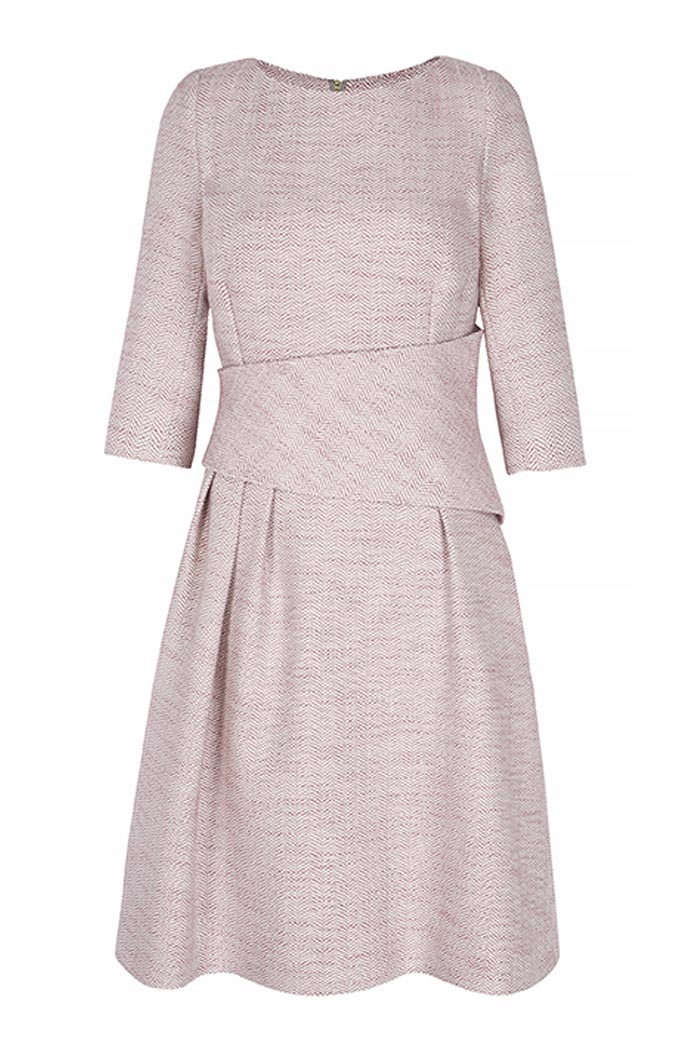 Camelot Dress Blush Pink Tweed 2