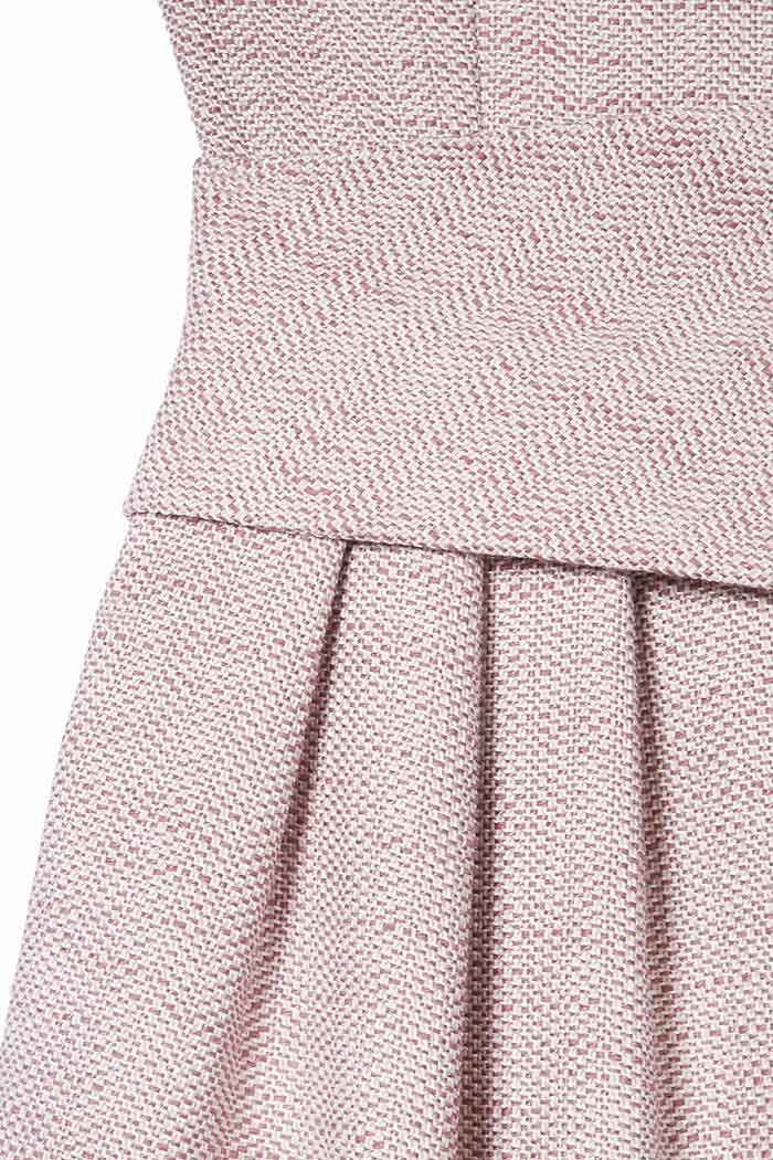 Camelot Dress Blush Pink Tweed 4