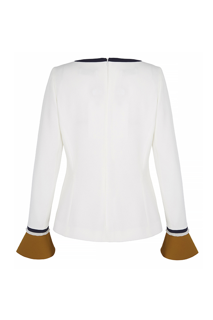 Latimer Top Ivory Crepe