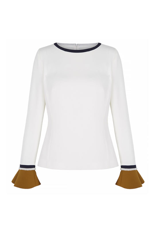 Latimer Top Ivory Crepe 2