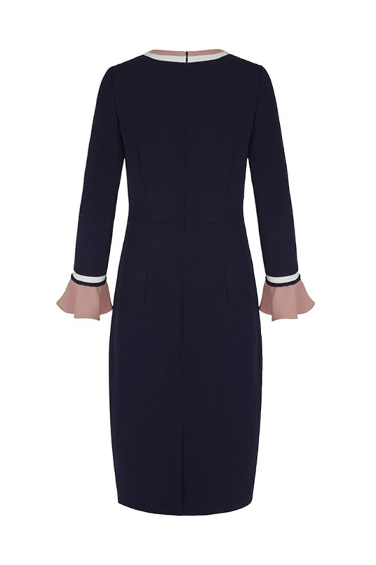 Rosnaree Dress Navy Crepe 3