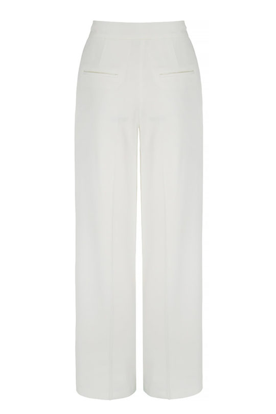 Almeida Trousers White Crepe 3