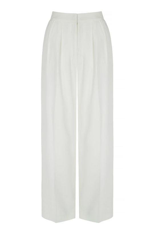 Almeida Trousers White Crepe 2