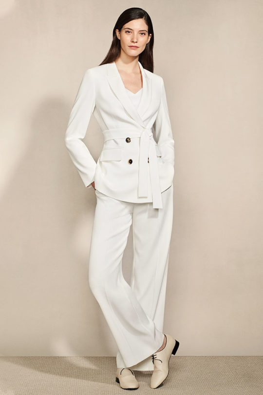 Almeida Trousers White Crepe