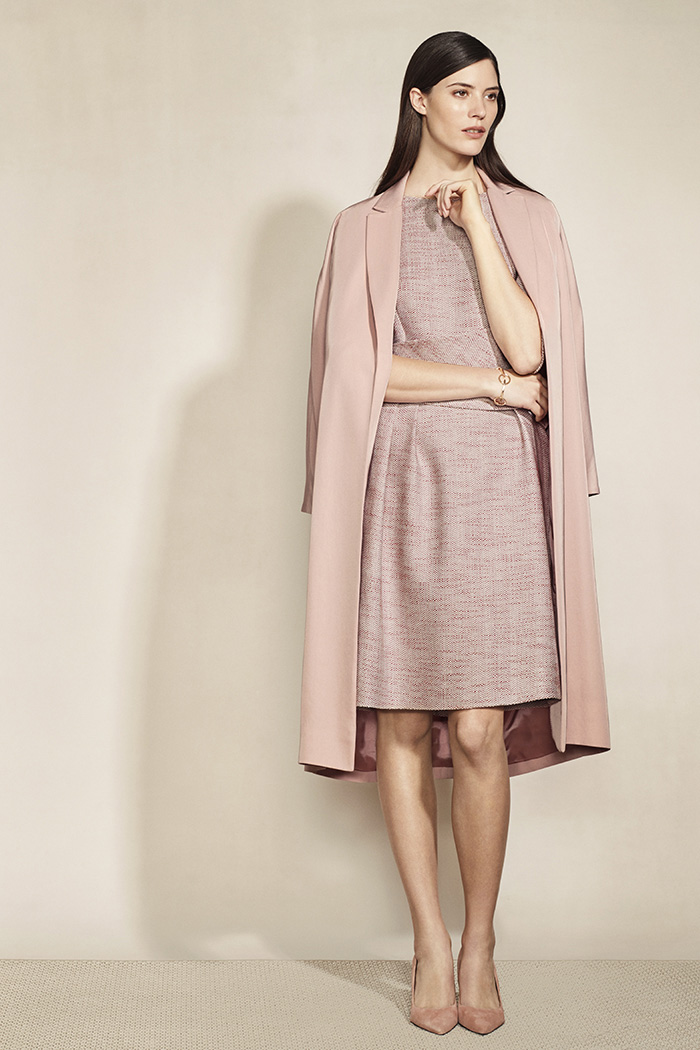 Camelot Dress Blush Pink Tweed 5
