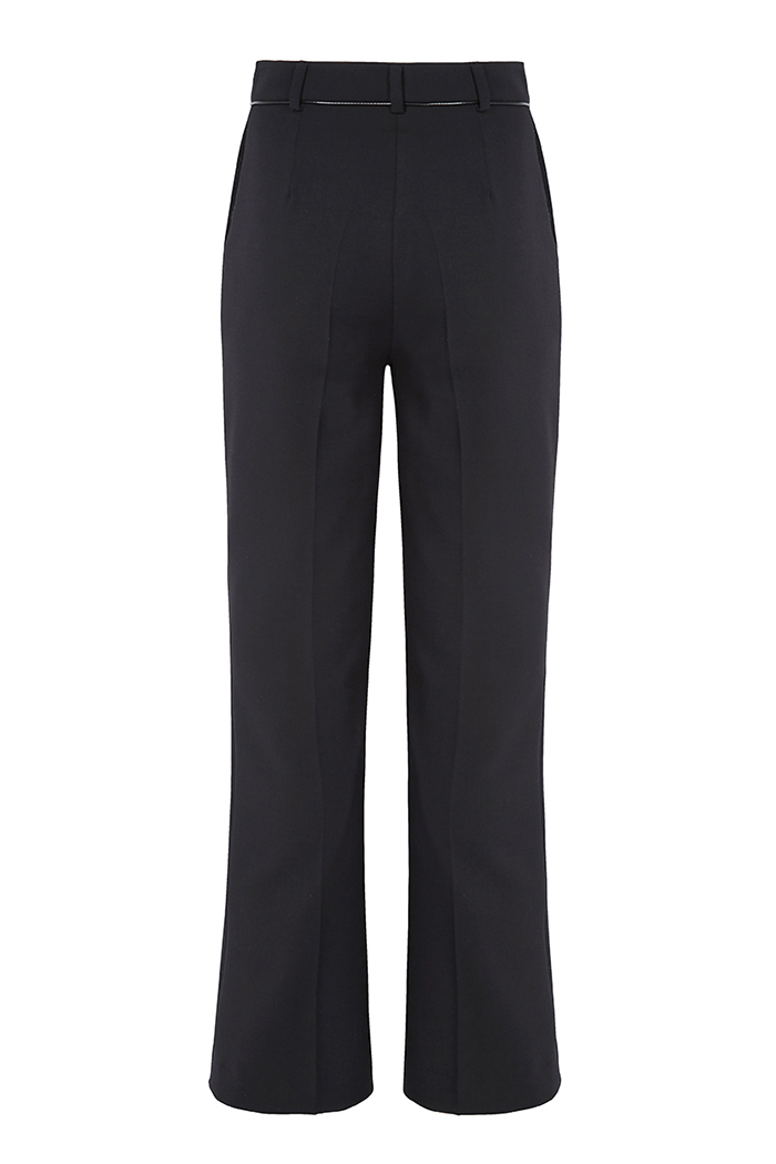 Ec1 Slim Bootcut Trousers Black - New