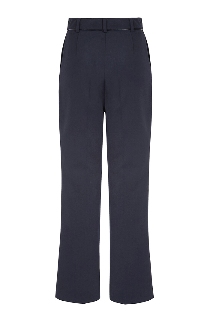 Ec1 Slim Bootcut Trousers Navy - New