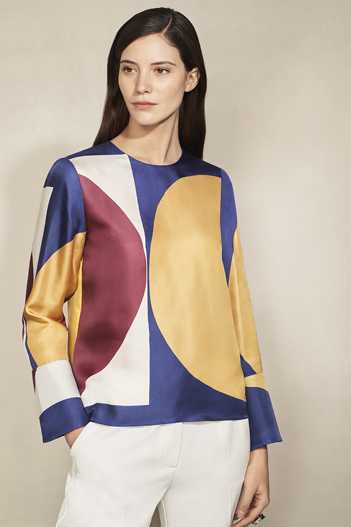 Ellesmere Blouse Multicoloured Silk 1