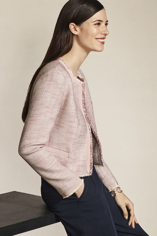 Glenwood Jacket Blush Pink Tweed