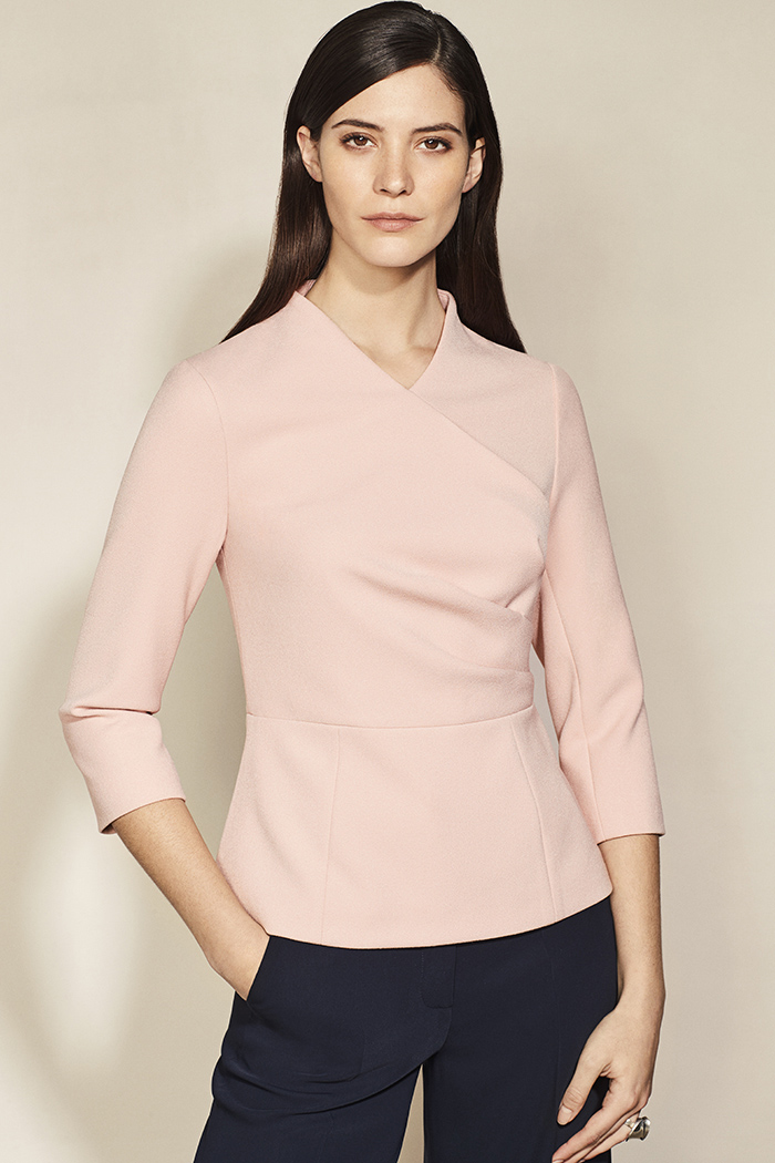 Lendal Top Blush Pink Crepe