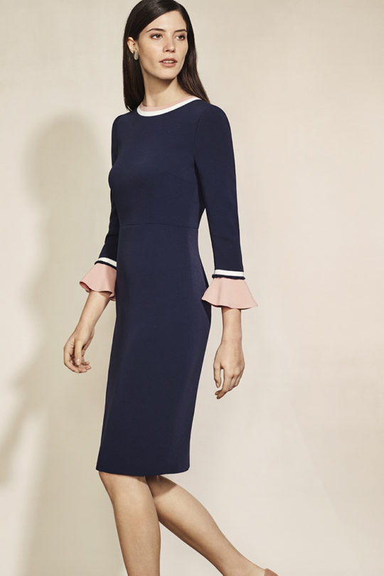 Rosnaree Dress Navy Crepe 1