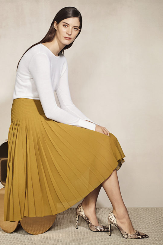 Rowson Skirt Dijon Yellow Georgette