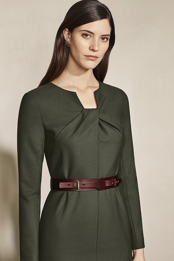 Waverley Dress Forest Green Wool